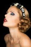 Señora de la moda en la corona Imagenes de archivo