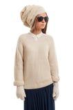 Señora de la moda que lleva un turbante Imagen de archivo