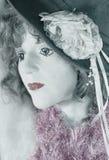 Señora de la tienda de desperdicios Imagen de archivo libre de regalías