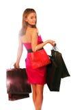 Señora de las compras Fotografía de archivo libre de regalías