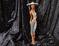 Señora de madera (tif&jpg) imagen de archivo