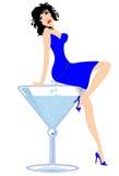 Señora de Martini stock de ilustración
