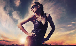 Señora de moda Imagen de archivo libre de regalías