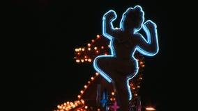 Señora de neón Boot Sign en Las Vegas almacen de video