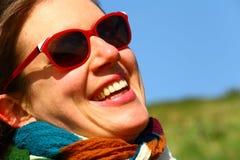 Señora de risa Fotos de archivo