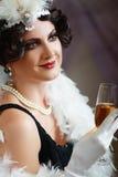 Señora de rugir 20s Imagen de archivo