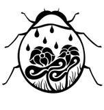 Señora decorativa Bug ilustración del vector