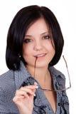 Señora del asunto con los vidrios Imagen de archivo libre de regalías