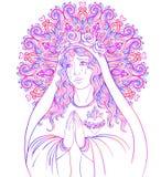 Señora del dolor Dedicación al corazón inmaculado de Virg bendecido libre illustration