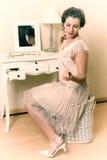 señora del gabinete de señora de los años 20 Imagenes de archivo