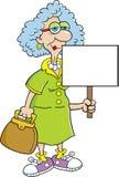 Señora del jubilado con una muestra libre illustration