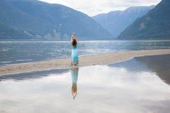 Señora del lago Imagenes de archivo