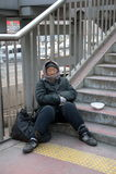 Señora del mendigo Fotografía de archivo libre de regalías