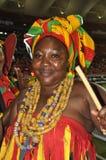 Señora del partidario de Ghana Fotos de archivo
