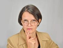 Señora del profesor Fotografía de archivo