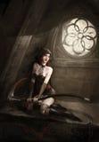 Señora del segador Foto de archivo