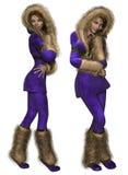 Señora del Snowsuit ilustración del vector