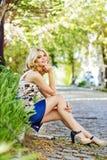 Señora del verano Foto de archivo libre de regalías