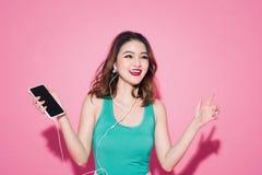 Señora del verano Muchacha asiática hermosa con maquillaje y s profesionales Imagen de archivo
