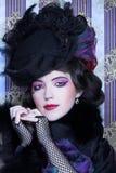 Señora del vintage. Imagen de archivo libre de regalías