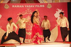 señora Desfile de moda de Bhiwadi NCR Foto de archivo libre de regalías