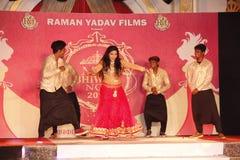 señora Desfile de moda de Bhiwadi NCR Imagen de archivo