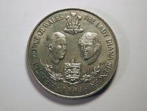 Señora Diana y Príncipe de Gales Imagen de archivo libre de regalías