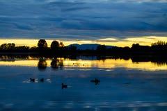 Señora durmiente de la puesta del sol Fotografía de archivo