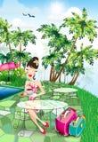 Señora el vacaciones Imagen de archivo libre de regalías