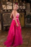 Señora en color de rosa Imagen de archivo libre de regalías