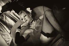 Señora en esperar Fotografía de archivo