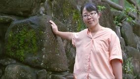 Señora en la naturaleza Foto de archivo
