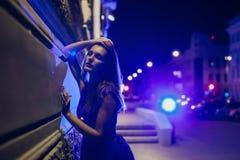 Señora en noche Imágenes de archivo libres de regalías