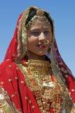 Señora en rojo Imagen de archivo libre de regalías
