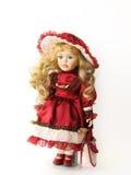 Señora en rojo imagen de archivo