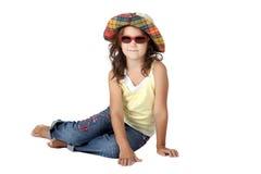 Señora en sombrero imágenes de archivo libres de regalías