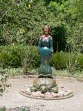 Señora en una tortuga Imagen de archivo libre de regalías