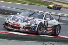 SEÑORA equipo GT-que compite con Porsche 991 Imágenes de archivo libres de regalías