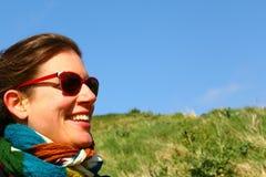 Señora feliz Fotos de archivo libres de regalías