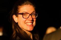 Señora feliz Big Smile Imágenes de archivo libres de regalías