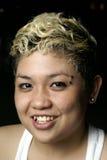 Señora feliz del punky del malay Imagenes de archivo
