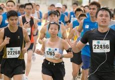 Señora fresca en el maratón 2008 de Singapur Imagen de archivo libre de regalías