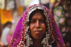 Señora gitana, Jaisalmer, la India Fotografía de archivo libre de regalías