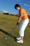Señora Golfer imagen de archivo