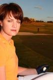 Señora Golfer Imagen de archivo libre de regalías