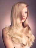 Señora hermosa con el pelo magnífico foto de archivo libre de regalías