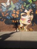 Señora hermosa de la mariposa fotos de archivo libres de regalías