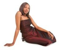 Señora hermosa del afroamericano fotografía de archivo