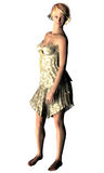 Señora hermosa en 3d Imágenes de archivo libres de regalías
