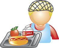 Señora icono del almuerzo Imagen de archivo libre de regalías